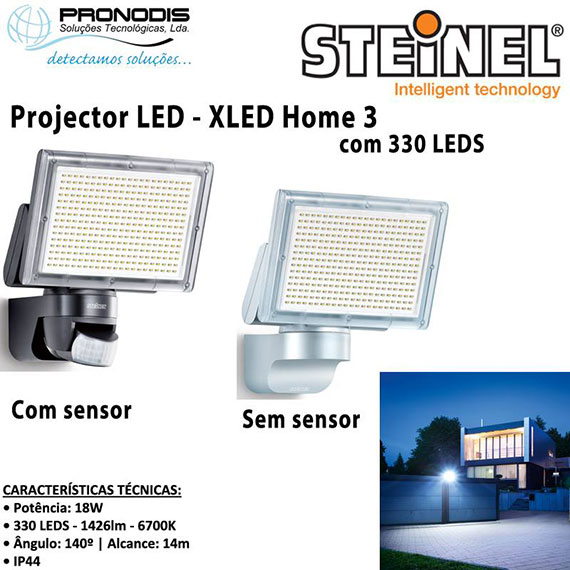projector led com sensor de infravermelhos da steinel atra. Black Bedroom Furniture Sets. Home Design Ideas