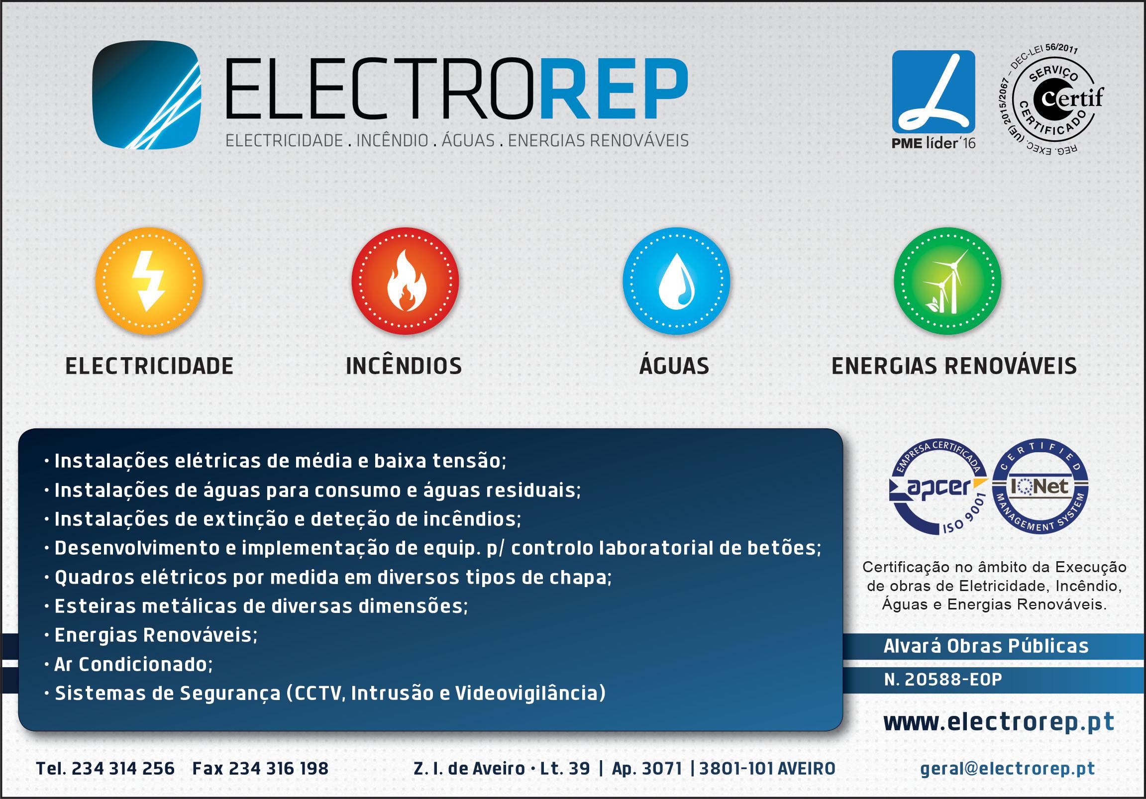 ELECTROREP • SOC. ELECTRICIDADE DE AVEIRO, LDA.