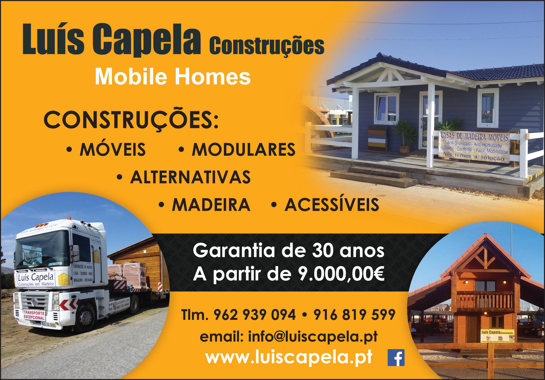 LUÍS CAPELA CONSTRUÇÕES EM MADEIRA • MOBILE HOMES