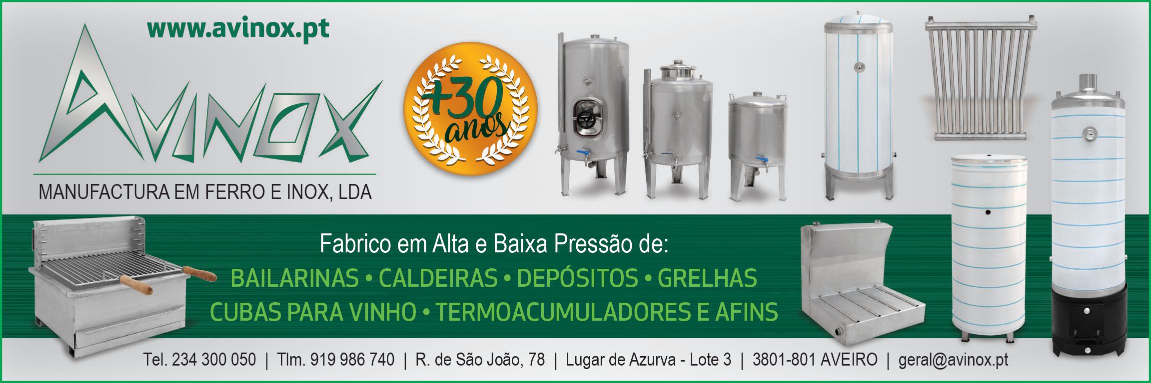 AVINOX • MANUFACTURA EM FERRO E INOX, LDA.