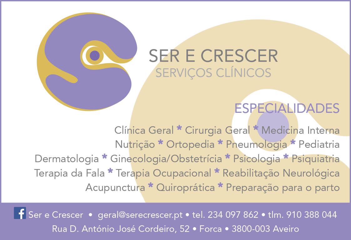 SER E CRESCER • SERVIÇOS CLÍNICOS