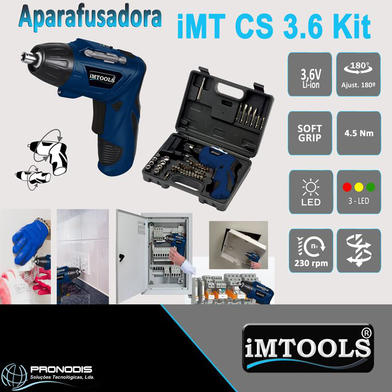 Aparafusadora iMT CS 3.6 Kit