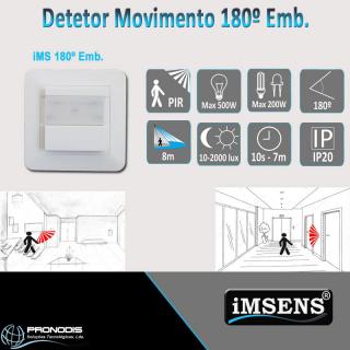 Detetor de 180º EMB. da marca iMSENS
