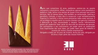 30 anos Pastelaria Latina
