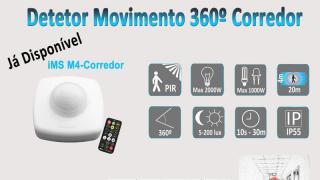 Detetor Movimento 360º Corredor
