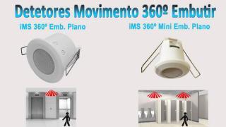 Detetores Movimento 360 Embutir