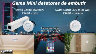 Gama Mini detetores de embutir da Zublin