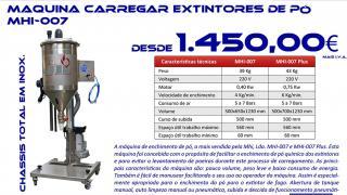 Máquina de Carregar Extintores de pó